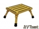 Aluminum Folding Platform Safety Step Small Yellow