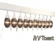 RV Awning Patio Party Lights Globes Bronze 10 Pack