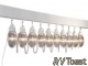 RV Awning Patio Party Lights Globes Prismatic Clear 10 Pack